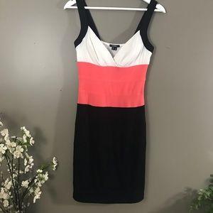 XOXO bodycon color block Dress